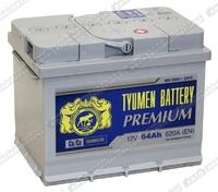 Легковой аккумулятор Тюмень 64 Ач 6СТ-64,0L Premium