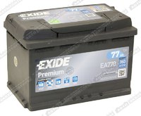 Легковой аккумулятор Exide Premium EA770