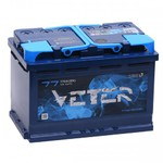 Легковой аккумулятор Veter 6СТ-77.1 VL