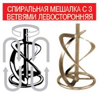 Мешалка для миксера ФИОЛЕНТ 03 к МД1, левая, 140 мм
