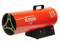 Тепл. пушка ТП 50ГБ 36-52кВт,поток-1450м3ч,расход-1.7-3.8кгч,11.2кг,пьезоподжиг Elitech