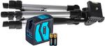 Построитель лазерных плоскостей INSTRUMAX ELEMENT 2D SET- дал.-20м;луч.-2; погр.±,2/10мм/м + штатив