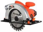 Пила циркулярная CS141 PATRIOT   1050Вт, диск 140х16мм, рез 40мм, 4500обмин, подрезной нож   PATRIOT