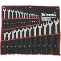 Набор ключей комбинированных MATRIX 15413, 6 - 32 мм, 25шт., CrV, матовый хром